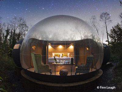 Почувствуй себя под куполом: абсолютная открытость в стеклянной гостинице Ирландии
